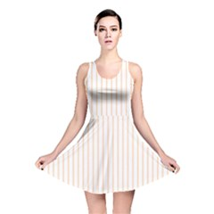 Pale Cucumber Pin Stripe on White Reversible Skater Dress