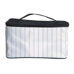 Classic Cream Pin Stripes on White Cosmetic Storage Case