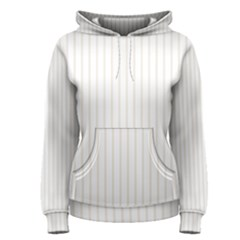 Classic Cream Pin Stripes on White Women s Pullover Hoodie