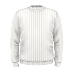 Classic Cream Pin Stripes on White Men s Sweatshirt