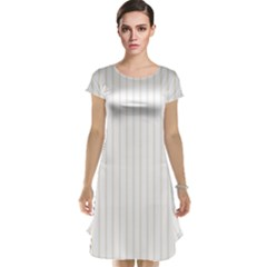 Classic Cream Pin Stripes on White Cap Sleeve Nightdress