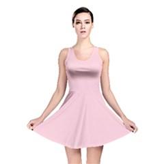 Light Soft Pastel Pink Solid Color Reversible Skater Dress
