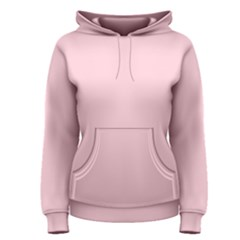 Light Soft Pastel Pink Solid Color Women s Pullover Hoodie