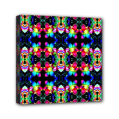 Colorful Bright Seamless Flower Pattern Mini Canvas 6  x 6