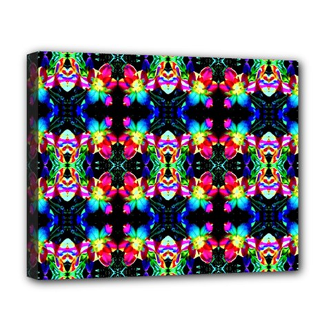 Colorful Bright Seamless Flower Pattern Deluxe Canvas 20  x 16