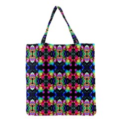 Colorful Bright Seamless Flower Pattern Grocery Tote Bag
