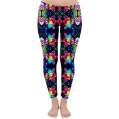 Colorful Bright Seamless Flower Pattern Classic Winter Leggings
