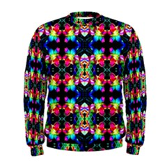 Colorful Bright Seamless Flower Pattern Men s Sweatshirt