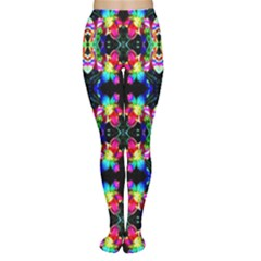 Colorful Bright Seamless Flower Pattern Women s Tights