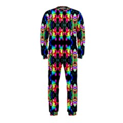 Colorful Bright Seamless Flower Pattern OnePiece Jumpsuit (Kids)