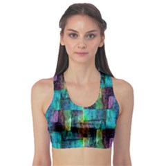 Abstract Square Wall Sports Bra