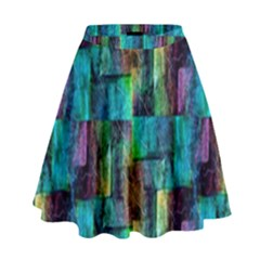 Abstract Square Wall High Waist Skirt