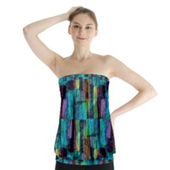 Abstract Square Wall Strapless Top