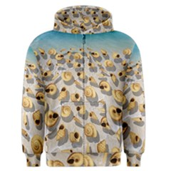 Shell pattern Men s Zipper Hoodie
