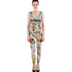 Shell pattern OnePiece Catsuit
