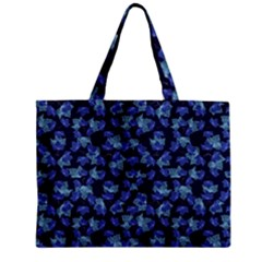 Autumn Leaves Motif Pattern Zipper Mini Tote Bag
