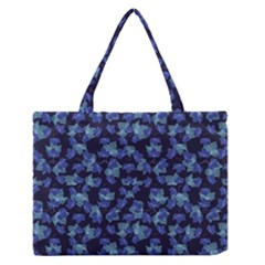 Autumn Leaves Motif Pattern Medium Zipper Tote Bag