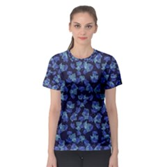 Autumn Leaves Motif Pattern Women s Sport Mesh Tee