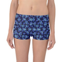 Autumn Leaves Motif Pattern Boyleg Bikini Bottoms