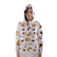 Shell pattern Hooded Wind Breaker (Women)