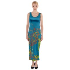 Colors Fitted Maxi Dress