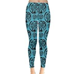 Turquoise Pattern Leggings