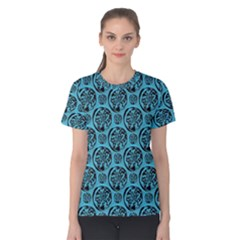 Turquoise Pattern Women s Cotton Tee