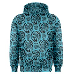 Turquoise Pattern Men s Pullover Hoodie