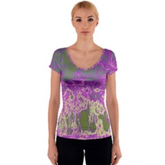 Colors Women s V-Neck Cap Sleeve Top