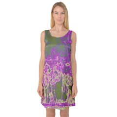 Colors Sleeveless Satin Nightdress