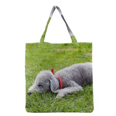Bedlington Terrier Sleeping Grocery Tote Bag