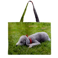 Bedlington Terrier Sleeping Zipper Mini Tote Bag
