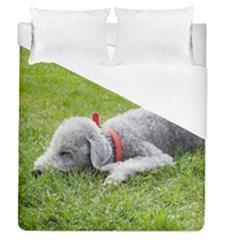 Bedlington Terrier Sleeping Duvet Cover (Queen Size)