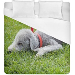 Bedlington Terrier Sleeping Duvet Cover (King Size)