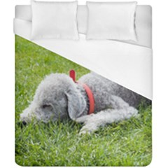 Bedlington Terrier Sleeping Duvet Cover (California King Size)
