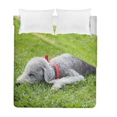 Bedlington Terrier Sleeping Duvet Cover Double Side (Full/ Double Size)