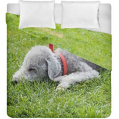 Bedlington Terrier Sleeping Duvet Cover Double Side (King Size)