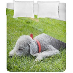 Bedlington Terrier Sleeping Duvet Cover Double Side (California King Size)
