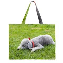 Bedlington Terrier Sleeping Large Tote Bag