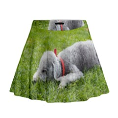 Bedlington Terrier Sleeping Mini Flare Skirt
