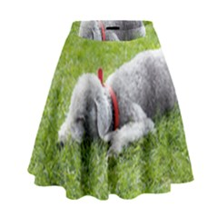 Bedlington Terrier Sleeping High Waist Skirt