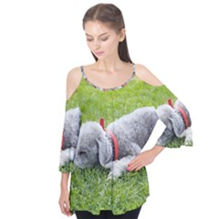 Bedlington Terrier Sleeping Flutter Tees