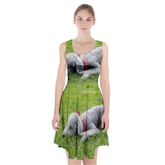Bedlington Terrier Sleeping Racerback Midi Dress