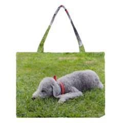 Bedlington Terrier Sleeping Medium Tote Bag