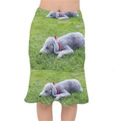 Bedlington Terrier Sleeping Mermaid Skirt