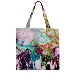 Colors Zipper Grocery Tote Bag