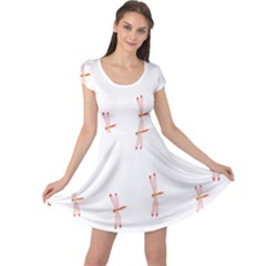 Animal Dragonfly Fly Pink Cap Sleeve Dresses