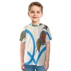 Butterfly Kids  Sport Mesh Tee