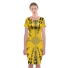 Wheel Of Fortune Australia Episode Bonus Game Classic Short Sleeve Midi Dress