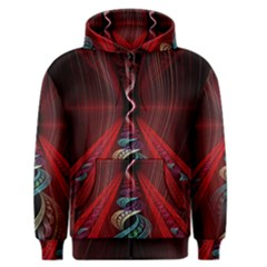 Artistic Blue Gold Red Men s Zipper Hoodie